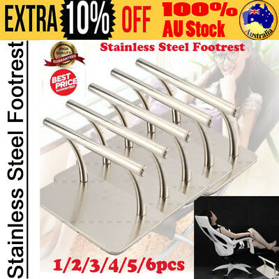1/2/5/10x Stainless Steel Footrest Barbers Hair Chair Salon Tattoo Spa Equipment