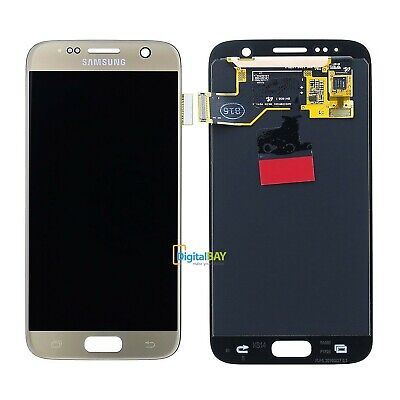 Lcd Touch Display Service Pack Gold Oro Originale Samsung per Galaxy S7 SM-G930