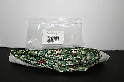 """Longaberger 2016 Christmas & 10"""" Generations American Holly Liner #23779135 NEW"""
