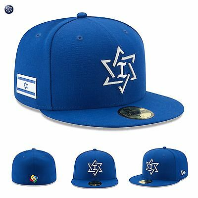 5fb1b8304e12a Israel National Baseball New Era Hat Cap 2017 World Baseball Classic  59FIFTY NEW