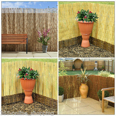 Natural Willow Reed Bamboo Brushwood Screen Roll Garden Fence Panel 1m x 3m UK