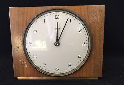 Vintage Kienzle Clock - Wooden - Battery Operated - 7.5 x 6 x 1.5""