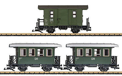 LGB 39079 G German State Railroad DR Franzburger Kreisbahn 3-Car Passenger Set