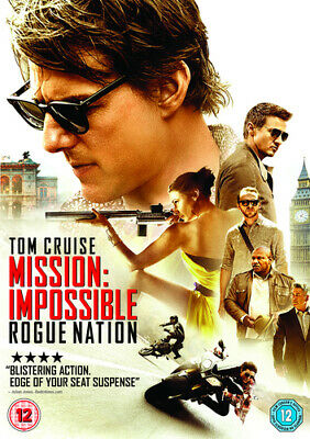 Mission: Impossible - Rogue Nation DVD (2015) Tom Cruise, McQuarrie (DIR) cert