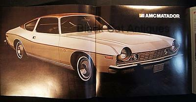 Original 1974 American Motors Matador Coupe Fold-Out Brochure Canada