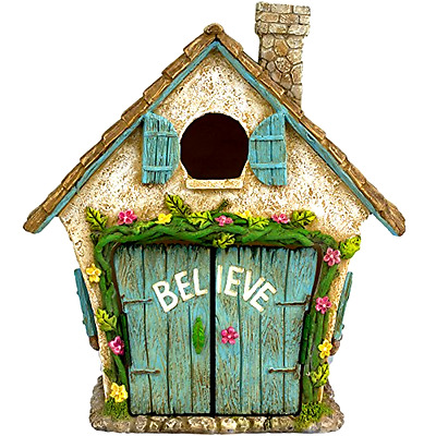 Fairy Garden House Home Garden Yard Outdoor Decor Gnome New Gift Art Birdhouse