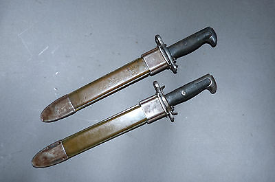 "WW2 Copy of Garand Bayo E-US Bayonet and Scabbard 10"" VG condition"