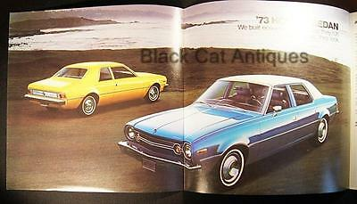 Original 1973 American Mtrs Hornet Sedan Color Fold-Out Brochure From Canada
