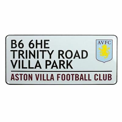 Official Aston Villa Football Street Sign Trinity Road Kids Room Wall Decor New