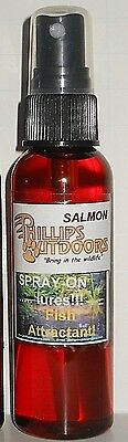Spray-On Lures Fish Attractant- SALMON,  Fishing Lure/bait