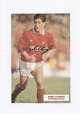 Nigel Clough Nottingham Forest 1984-1997 Original Hand Signed Annual Cutting