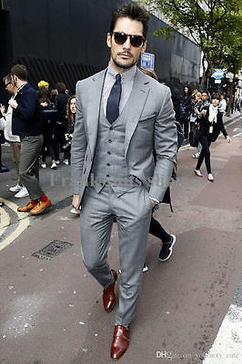 Men's Business Suit Slim Fit Groom Formal Wedding Suit Tuxedos Custom Made