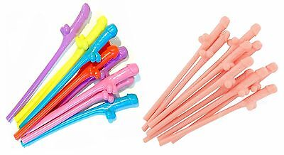 Hen Party Willy Straws Rude Hen Night Out Cock Drinks Novelty Sucking Straw Bar