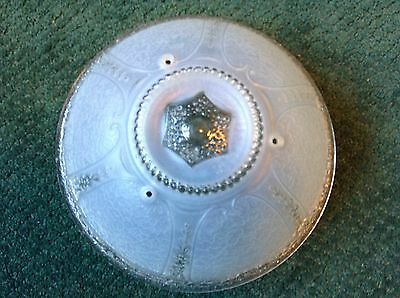 """Antique Vintage Victorian Clear Glass Ceiling Light Shade Globe 10 1/2"""""""