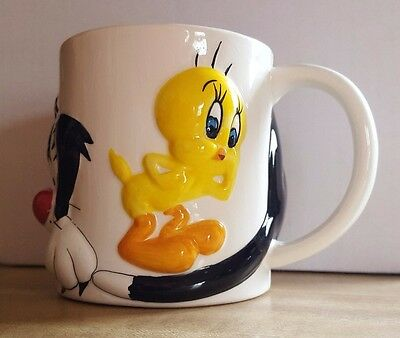 Looney-Tunes Mug by Gibson, Sylvester The Cat and Tweety Bird, Great Collectible