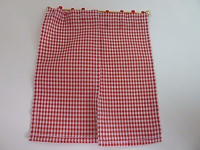 Dolls House Emporium Miniature 1:12th Scale Kitchen Red Gingham Curtains (5773)
