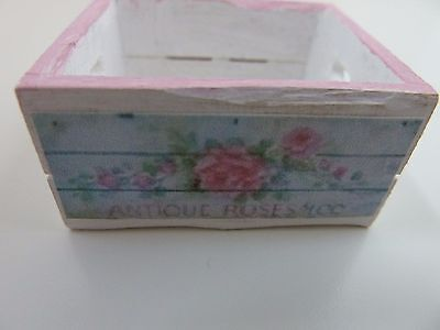 Dolls House Miniature 1.12th Scale Kitchen Shop Wood Painted White Crate