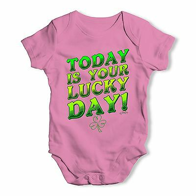 Twisted Envy Today Is Your Lucky Day Baby Unisex Funny Baby Grow Bodysuit