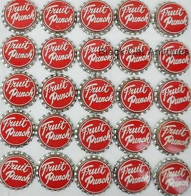 Lot of 100 FRUIT PUNCH Cork Vintage Unused Soda Crown Crowns Caps NOS Pop
