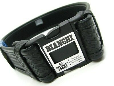 "BIANCHI Small 28""-34"" Waist Black 7950 Basketweave ACCUMOLD ELITE Duty Belt!"