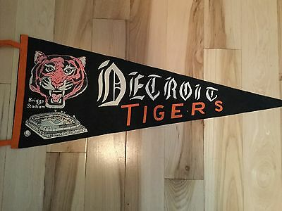 Detroit Tigers baseball rare pennant 1950s or 60s.