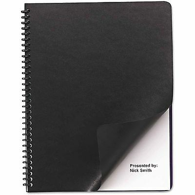 Swingline GBC Leather Look Binding System Covers, 11 X 8-1/2 Black, 200