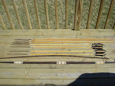 Shipibo Tribe of Peru Bow and Arrow + Spear Set