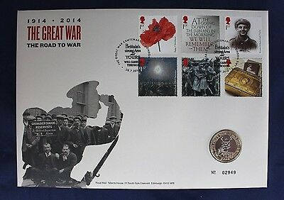 "2014 Royal Mint £2 Coin Cover PNC ""WWI 100th Anniversary""  (Z2/23)"