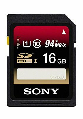 Sony 16GB Class 10 UHS-1 SDHC up to 94MB/s Memory Card (SF16UX/TQ2)