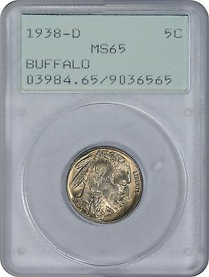 1938-D Buffalo Nickel MS65 PCGS (Old Green Holder)