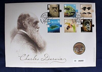 "2009 Royal Mint £2 Coin Cover PNC ""Charles Darwin""   (Z2/31)"