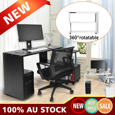 Office Computer Corner Table Study Laptop Desk Student Rotary Home Workstation