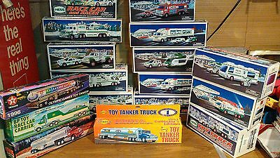 LOT OF 22 HESS TRUCKS New w/packaging set 1975 Texaco BP Racer Holiday Tanker BG