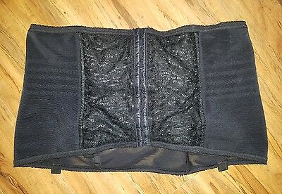 Vintage Rago of New York Open Bottom Girdle Plus Size 7X 44 Black & Lace Support