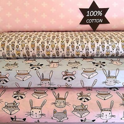 BABY SET NEW TRIBAL WOODLAND Cotton FITTED Sheet Bedding Cot Bassinet Crib Boori