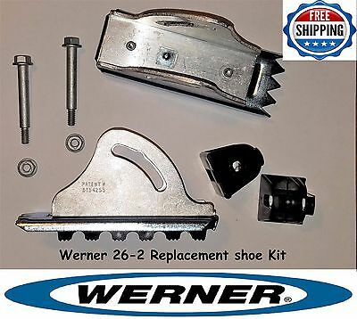 Werner 26-2 - Replacement Shoe / Feet Kit - Aluminum Extension Ladder Parts