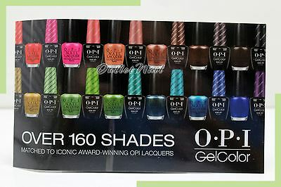 "New OPI WINDOW CLING GelColor Gel Nail Lacquer 4.75"" x 8.25"" GC900 GL900 GL901"