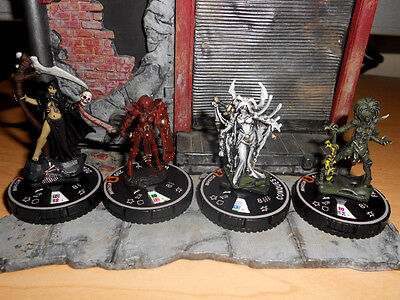 CUSTOM Heroclix 4 FOUR HORSEWOMEN of the APOCALYPSE War Famine Death Conquest