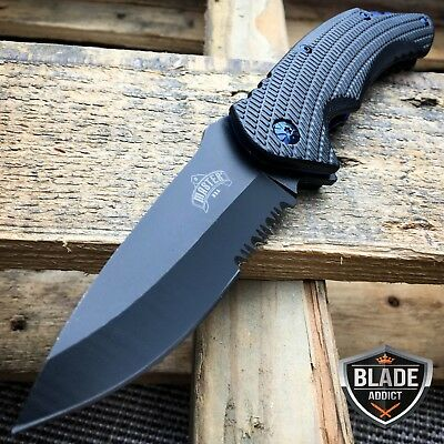 "8.25"" MASTER USA TACTICAL FOLDING SPRING ASSISTED KNIFE Blade Pocket Open BLUE"