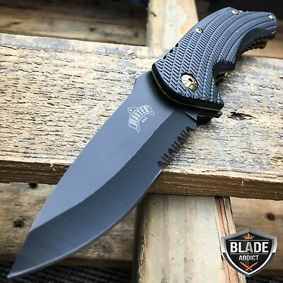 "8.25"" MASTER USA TACTICAL FOLDING SPRING ASSISTED KNIFE Blade Pocket Open GOLD"