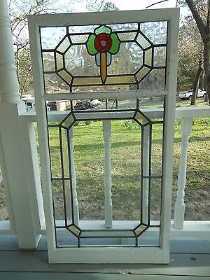 LAM-173 Large Older Pretty Multi-Color English Leaded Stain Glass Window
