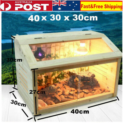 Heat Cage Reptiles Enclosure Lizard Frog Snake Turtle Crab Tank With E27 Screw