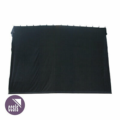 Bravo 4M X 3M Black Cotton Velvet Stage Curtain - Flat _ 43B