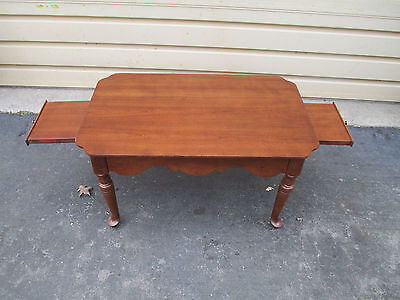 51707  Solid Cherry Tea Table Coffee Table Stand w/ Pull outs ETHAN ALLEN ??