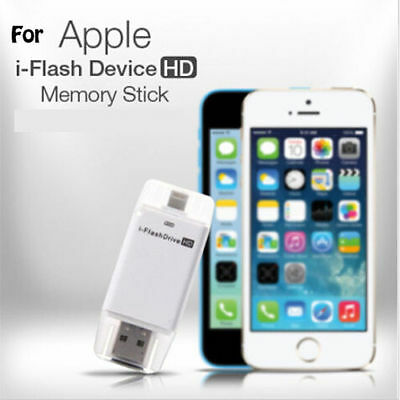 Extended i-Flash Drive HD USB Micro SD Memory Card Reader For iPhone 7 6S Plus