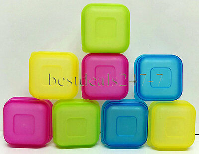 New 8 x Plastic Small Mini Food Container With Lid