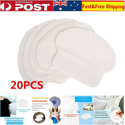 20Pcs Armpit Sweat Pads Disposable Underarm Absorbing Anti Perspiration Shield
