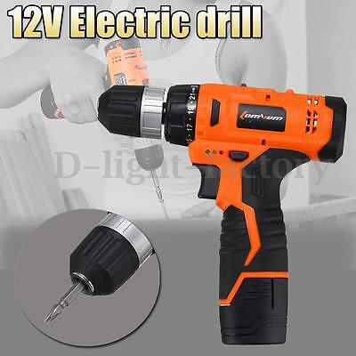 12V Electric Wireless Drill Driver Two Speed Good Quality With Bits Set