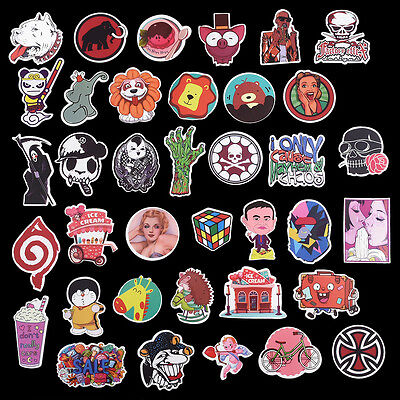 100 X Graphics Decal Sticker Vinyl Car Skate Skateboard Laptop Luggage Emblems