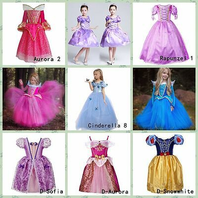 Girls' Clothing Princess Belle Cinderella Elsa Sofia Dresses Kids Party Costume